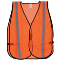 Orange Safety Vest with Reflective Striping- Extra Large