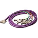 Switchcraft DB25M02XLRMXLRFY DB25 to 4 XLRM 4XLRF 2 Ft.