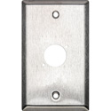 Switchcraft WP1S1 Wall Plate - 1 Gang - 1 E/EH Connector Hole - Non-Threaded Mounting Holes - Stainless Steel Finish