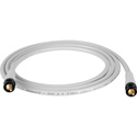 Laird T1694-B-B-6-WE Belden 1694A RG6 w/ Trompeter UPL2000 Black & Gold 3G-SDI BNC Cable - 6 Foot White