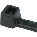 HellermannTyton T18L0C2 8 Inch Black Nylon Cable Ties (18 Pounds Tensile Strength) - 100 Pack