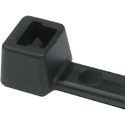 HellermannTyton T50R0M4 8 Inch Black Nylon Cable Ties (50 Pounds Tensile Strength) - 1000 Pack