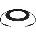 TE BK15B Bantam to Bantam Audio Patch Cable Nickel Black-15Ft