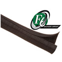 Techflex F6W0.63BK - F6 Woven Harness Wrap 5/8 in. Diameter - Black - 75 Ft.