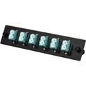 TechLogix ECO-P-M4-LC6D ECO Mounting Panel - 1 Slot - Multimode OM3/OM4 - 6 Duplex LC
