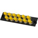 TechLogix ECO-P-S2-ST12 ECO Mounting Panel - 1 Slot - Single Mode OS2 - 12 Simplex ST