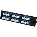 TechLogix ECO-P-S2-LC12D ECO Mounting Panel - 1 Slot - Single Mode OS2 12 Duplex LC