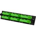 TechLogix ECO-P-S2-SCA6D ECO Mounting Panel - 1 Slot - Single Mode OS2- 6 Duplex SC/APC (Angled)