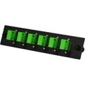 TechLogix ECO-P-S2-SCA6S ECO Mounting Panel - 1 Slot - Single Mode OS2- 6 Simplex SC/APC (Angled)