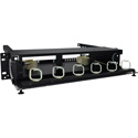 TechLogix ECO-RDU-2RU-P6 Rack-Mount Distribution Unit 2 RU with 6 Panel Slots and ID Labels