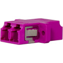 Techlogix M4D-ADPT-LCLC Fiber Optic Coupler - Duplex Multimode OM4 LC to LC
