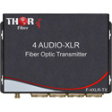 Thor Fiber F-4A-XLR-TXRX Four channel XLR Balanced Audio Over Fiber Transmitter/Receiver