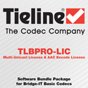 Tieline TLBPRO-LIC Software Bundle Package for Bridge-IT Basic Codecs - Multi-Unicast License & AAC Encode License