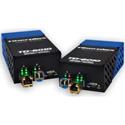 Fiberplex TKIT-ETH-S TD-6010 (Pair) Preconfigured 10/100/1000 Base-T Ethernet to Singlemode Optical Conversion 1310nm