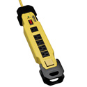 Tripplite TLM615SA 6 Outlet 2400 Joule Safety Surge Suppressor OSHA Yellow