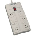 Tripplite TLP808 8-Outlet Surge Protector - Right-Angle Plug/1440 Joules/Diagnostic LEDs/Light Gray Housing - 8 Foot