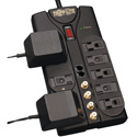 Tripplite TLP810SAT 8-Outlet Surge Protector - 3240 Joules - Tel/Fax/Modem/Coax Protection - RJ11 - 10 Foot Cord