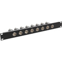 MCS TN-AESEBU8F 8-Port 1RU AES/EBU Impedance Transformer Patch Panel BNC Female to Rear XLR Female