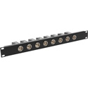 MCS TN-AESEBU8M 8-Port 1RU AES/EBU Impedance Transformer Patch Panel BNC Female to Rear XLR Male