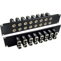 My Custom Shop TN-DPB16F Rack Mount Patchbay 16 Port BNC-XLR F-F