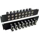 Rack Mount Patchbay 16 Port BNC-XLR F-F