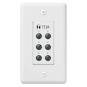 TOA ZM-9001 9000/9000M2 Remote Panel 6-Switches