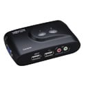 Tripp Lite B004-VUA2-K-R 2 Port KVM Switch (USB) Desktop with Audio & Cables