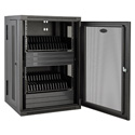 Tripp Lite CS32AC 32-Device AC Charging Station with Secure Storage for iPad/Android Tabs - Mobile Cart Option - Black