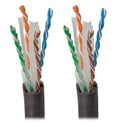 Tripp Lite N222-01K-BK Cat6 Gigabit 550 MHz Bulk Solid PVC Cable - Black 1000 Feet