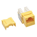 Tripp Lite N238-001-YW Cat6/Cat5e 110 Style Punch Down Keystone Jack - Yellow