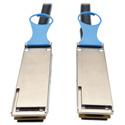 Tripp Lite N282-01M-28-BK QSFP28 to QSFP28 100GbE Passive DAC Copper InfiniBand Cable (M/M) 3 feet