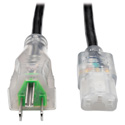 Tripp Lite P006-003-HG13CL Hospital-Grade Computer Power Cord - Clear Plugs 13A 16  AWG (NEMA 5-15P - IEC-320-C13) 3 ft.