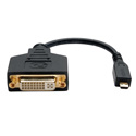 Tripp Lite P132-06N-MICRO Micro HDMI (Type D) to DVI-D Adapter (M/F) 6-Inch