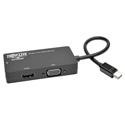 Tripp Lite P137-06N-HDV-4K Keyspan Mini DisplayPort 1.2 to VGA/DVI/HDMI All-in-One Converter Adapter 4K x 2K HDMI