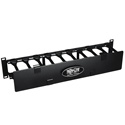 Tripp Lite SRCABLEDUCT2UHD Rack Enclosure Horizontal Cable Manager Steel w Finger Duct 2URM