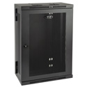 Tripp Lite 18U Low-Profile Wall-Mount Rack Enclosure Cabinet Double Hinge Removable Side Panels 36H x 24W x 13D