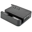 Tripp Lite TLP26USBB 4-Port USB Charging Station Surge 2 Outlet Ipad Tablet Stand