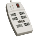 Tripp Lite TLP64 Surge Protector 120V 5-15R 6 Outlet 4ft Cord 540 Joule
