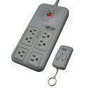 Tripp Lite TLP66RCG Eco Surge Protector Green w/ Remote Control 6 Outlet 6ft Cord