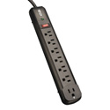 Tripp Lite TLP74RB Surge Protector Strip 120V Rt Angle 7 Outlet Black