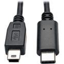 Tripp Lite U040-006-MINI USB 2.0 Hi-Speed Cable USB 5-Pin Mini-B Male to USB Type-C (USB-C) Male 6 Feet