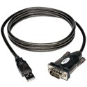 Tripp Lite U209-000-R 5 foot USB to Serial Adapter Cable USB-A Male to DB9 Male