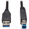 Tripp Lite U322-015-BK USB 3.0 SuperSpeed Device Cable (AB M/M) Black 15 Feet