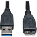 Tripp Lite U326-003-BK USB 3.0 SuperSpeed Device Cable (A to Micro-B M/M) Black 3 Feet