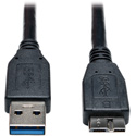 Tripp Lite U326-006-BK USB 3.0 SuperSpeed Device Cable (A to Micro-B M/M) Black 6 Feet