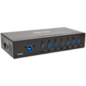 Tripp Lite U360-007-IND 7-Port Rugged Industrial USB 3.0 SuperSpeed Hub with 15KV ESD Immunity and Metal Case Mountable