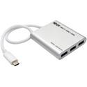 Tripp Lite U460-004-4A 4-Port USB 3.1 Gen 1 Portable Hub - USB Type-C (USB-C) to (x4) USB-A Aluminum