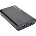 Tripp Lite UPB-10K0-2U Portable 10000mAh Dual-Port Mobile Power Bank USB Battery Charger with LED Flashlight - Li-Ion