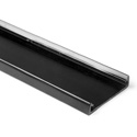 HellermannTyton 181-94003 4-Inch Wide 6 Foot Length PVC Wiring Duct Cover for TYT-4X4 - Black