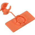 Rip-Tie Unitag 5/8 x 1-1/2 Snap Tag Cable Identifier 10 Pack Orange